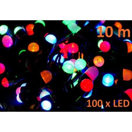 Vánoční světelný řetěz venkovní / vnitřní, barevný, 100 MAXI LED, 10 m