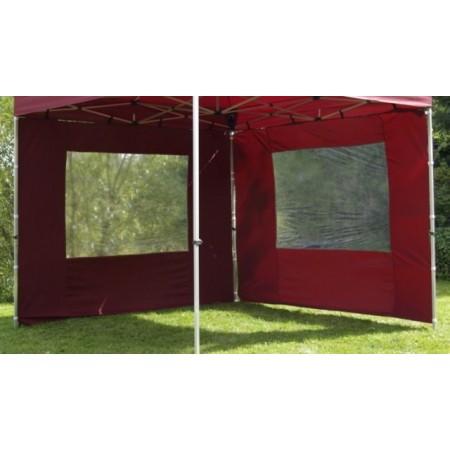 2 boční stěny pro párty stany s okny, vínová
