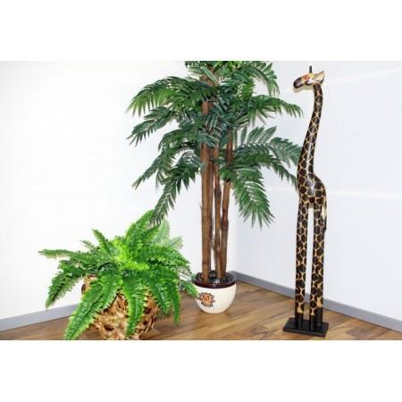 Okrasná dřevěná ručně vyřezávaná žirafa, 120 cm