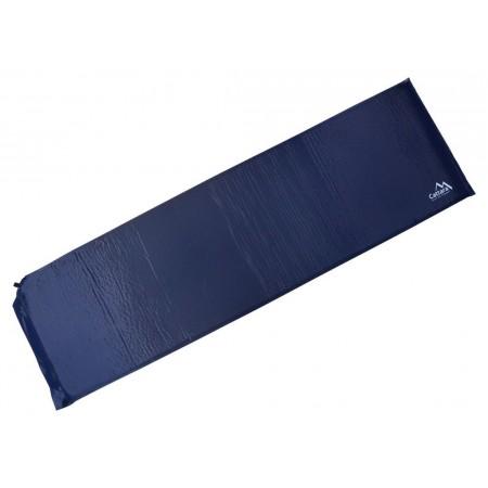 Samonafukovací karimatka s pěnovým jádrem, modrá, 186x53x2,5cm