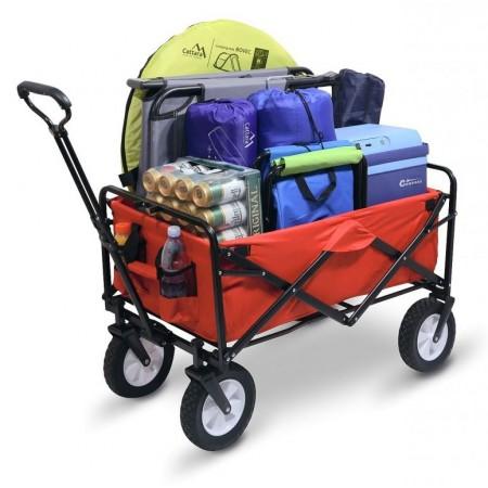 Skládací vozík se 4 kolečky- převoz věcí v kempu, na zahradě