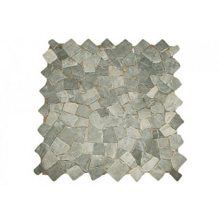 Dlažba / obklad - mozaika z leštěného mramoru šedá, 1 m2