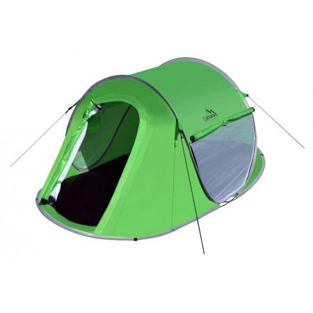 Rychloskládací / rozkládací turistický stan pro 2 osoby, zelený