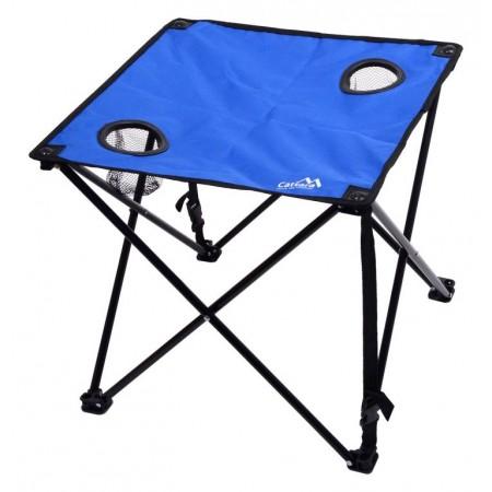 Kempinkový přenosný skládací stolek s textilní horní deskou, 45x47x47cm