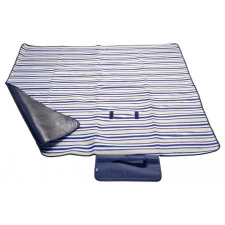Pikniková / opalovací deka s voděodolnou vrstvou, modré pruhy, 150x135 cm