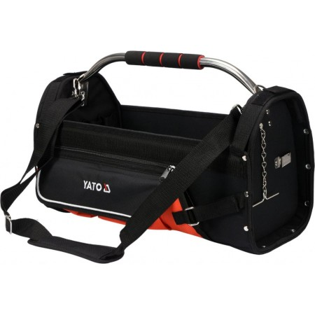 Odolná textilní taška na nářadí s kovovou rukojetí, 11 kapes, 52x33x24 cm