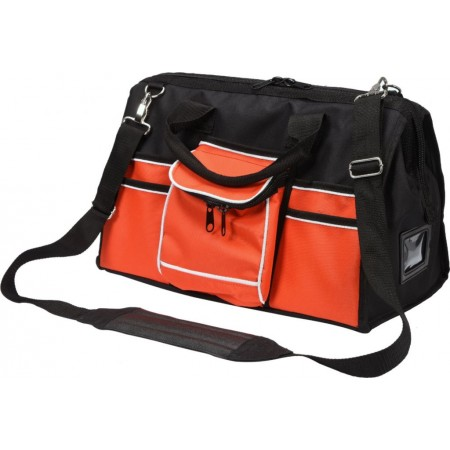 Odolná textilní taška na nářadí a spojovací materiál, 41 kapes, 50x28x25cm