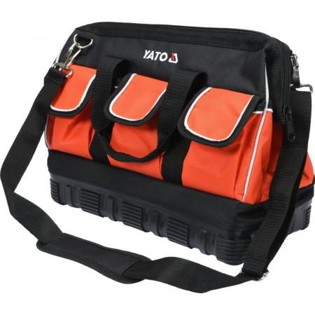 Odolná textilní taška na nářadí s gumovým dnem, 15 kapes, 41x27x22cm