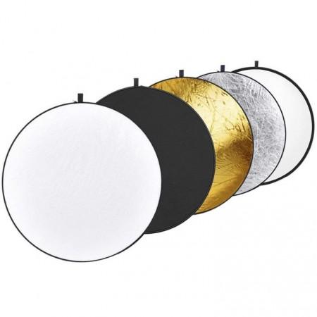 Odrazná deska pro fotografy 5v1, různé povrchy, průměr 60 cm