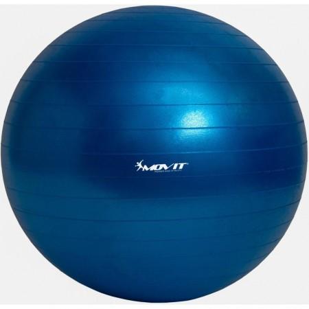 Velký nafukovací míč na cvičení a gymnastiku + pumpa, modrý, průměr 75 cm