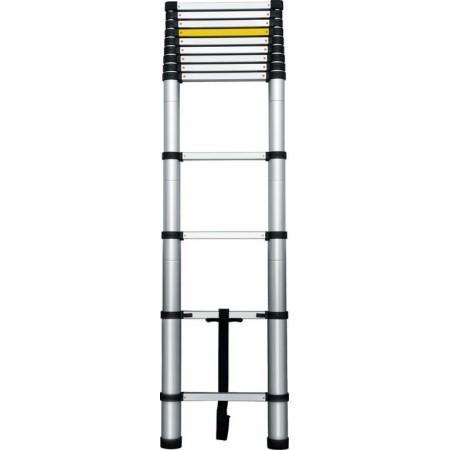 Skládací výsuvný (teleskopický) žebřík, hliník / nylon, 3,8 m