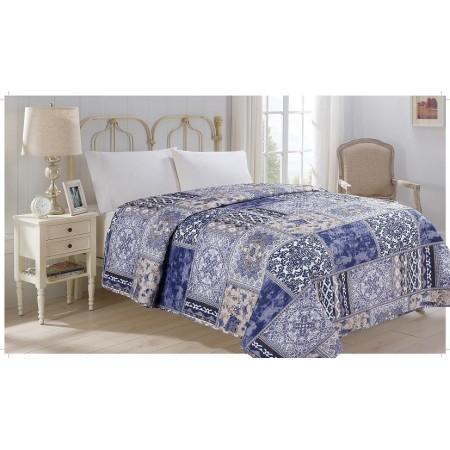 Přehoz přes postel na jednolůžko, potisk orient, 100% polyester, 140x220 cm