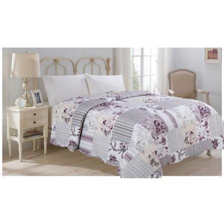 Přehoz přes postel na jednolůžko, potisk flower, 100% polyester, 140x220 cm