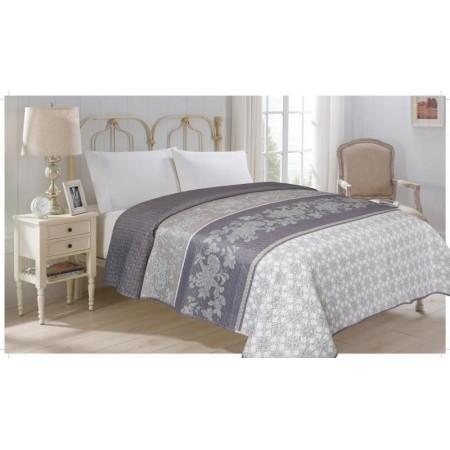 Přehoz přes postel na dvoulůžko, vzorovaný potisk, 100% polyester, 220x240 cm