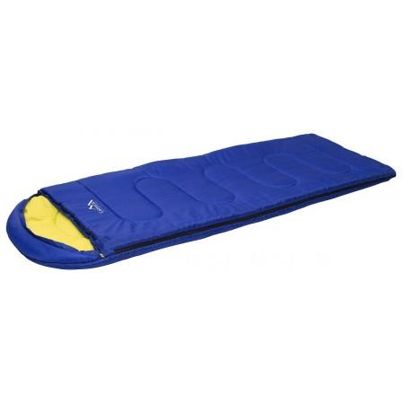 Lehký dekový spací pytel modrý, 10°C
