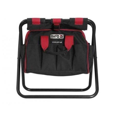 Textilní taška na nářadí / stolička 2v1, zesílené švy, 52 x 33 x 24 cm