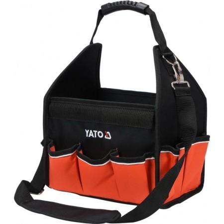 Textilní taška na nářadí otevřená, plastová (nylonová) rukojeť, 42x29x30 cm