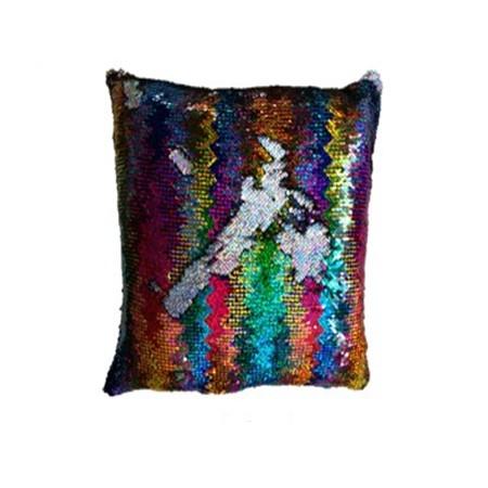 Dekorativní potah na polštář s flitry barevný, 40x40cm