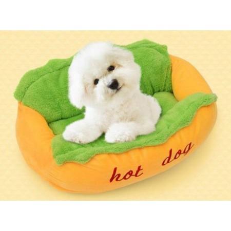 Originální pelíšek pro menší psy ve tvaru Hot dogu