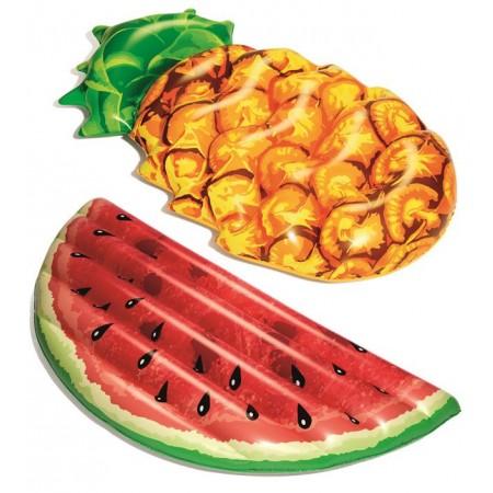Nafukovací lehátko na vodu ananas / meloun - náhodný výběr