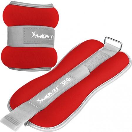 Zátěže na ruce a nohy neoprenové s reflexními prvky, červené, 2x3 kg