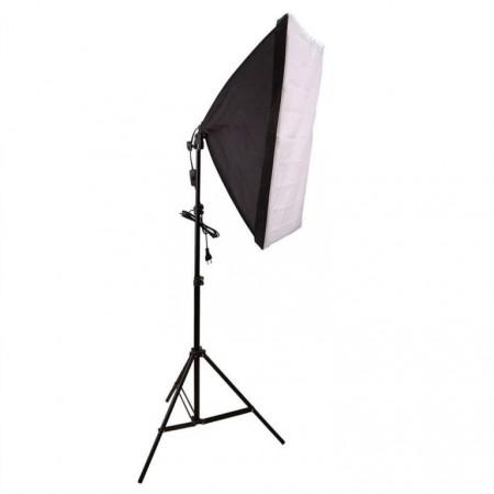 Fotografická studiová sada - stativ, softbox, lampa s kontinuálním světlem