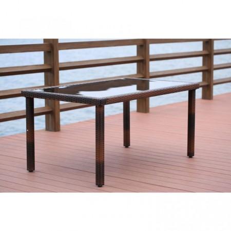 Elegantní stůl z umělého ratanu obdélníkový, zahrada / interiér, 150x90cm