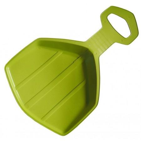 Dětská plastová lopata- kluzák na sníh, lemon (zelená)