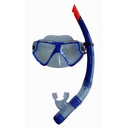 Potápěčská sada Brother, maska + šnorchl s krytkou proti vodě, modrá
