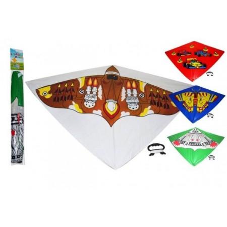 Létající drak pro děti i dospělé - s obrázkem, plast, 110x72 cm