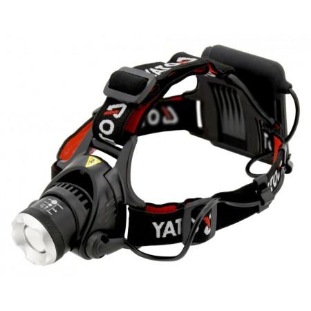 Čelová svítilna - čelovka s funkcí zoom, 450 lm, 4xAA baterie