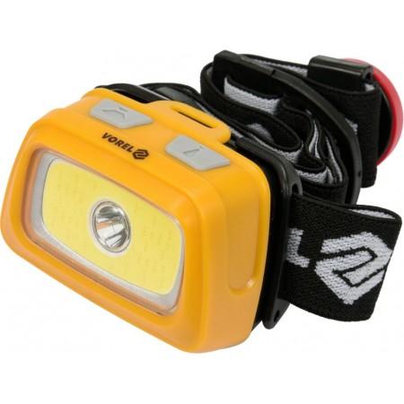 Čelová svítilna s různými režimy, bílé / červené světlo, na baterie 3x AAA