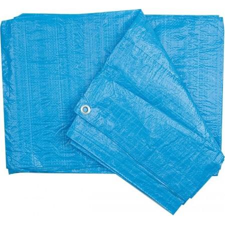 Krycí plachta na zahradu / do dílny modrá, s oky, 4x5m, 90g/m2