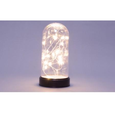 Vánoční světelná dekorace- lampa s LED řetězem na baterie, 20 diod, 22 cm