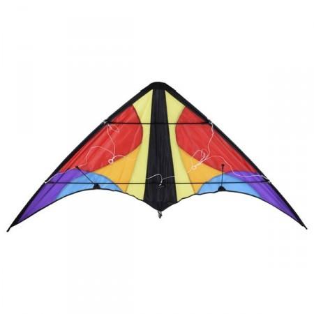 Létající drak se 2 provázky - řiditelné delta křídlo, 160x80cm