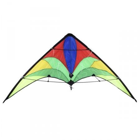 Rychlý létající drak delta řiditelný, pro triky, 140x74cm