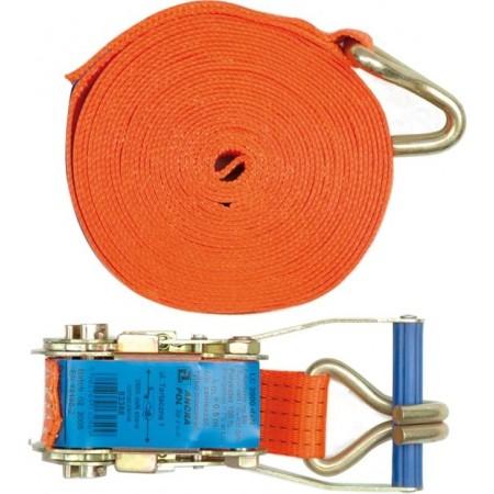 Upínací pás - kurtna - s napínáním 6 m, 1600daN, oranžový
