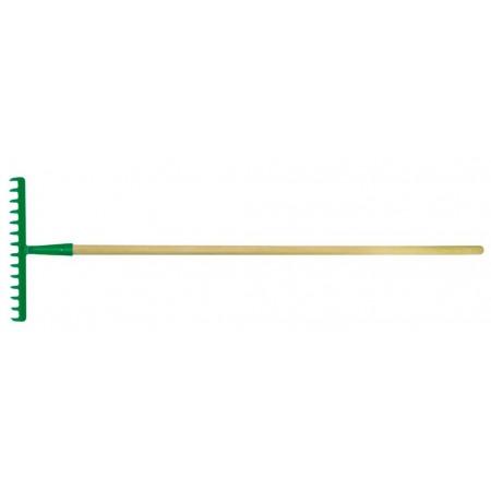 Kovové hrábě s dřevěnou násadou 14 zubů, 380 mm