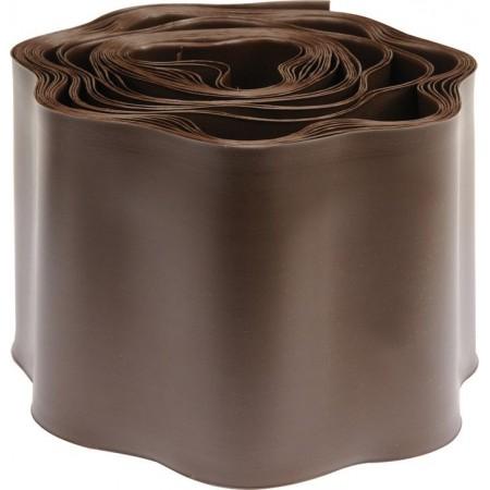 Plastový obrubník k trávníku jednoduchý vlnitý, hnědý, výška 10 cm, 9 m