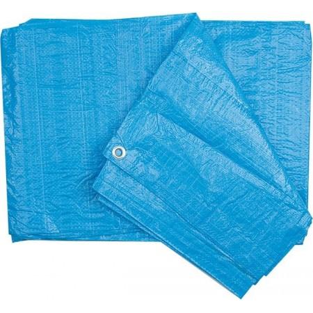 Voděodolná krycí plachta s oky na zahradu / do dílny, modrá, 90g/m2, 10x15m