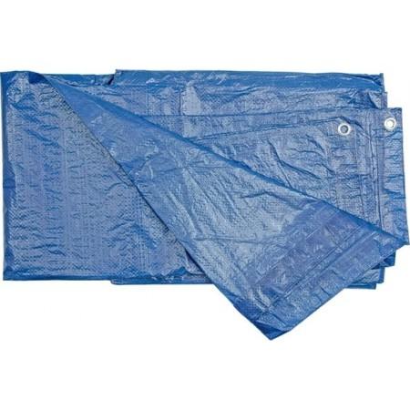 Voděodolná krycí plachta s oky na zahradu / do dílny, modrá, 75g/m2, 10x15m