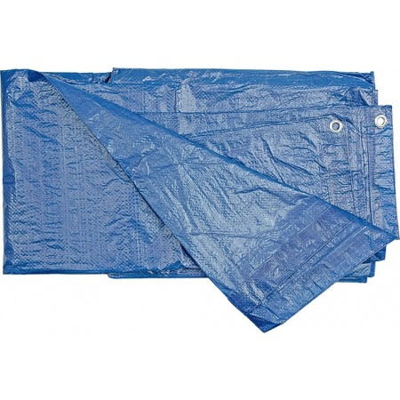 Krycí plachta na zahradu / do dílny s oky, modrá, 75g/m2, 3x5m