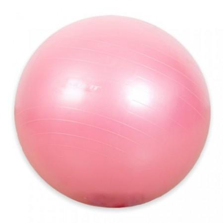 Míč pro cvičení a gymnastiku, 75 cm, růžový, vč. pumpičky