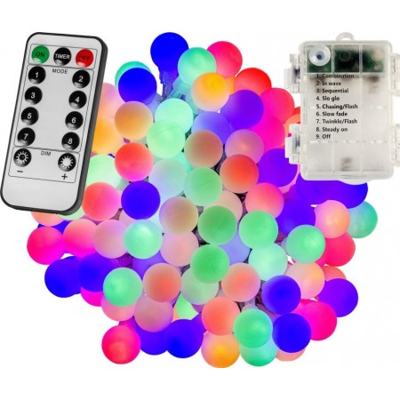 Párty osvětlení- řetěz s barevnými kuličkami venkovní / vnitřní, DO, 20 m
