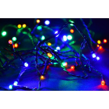 Vánoční světelný řetěz barevný, 400 LED diod, 40 m