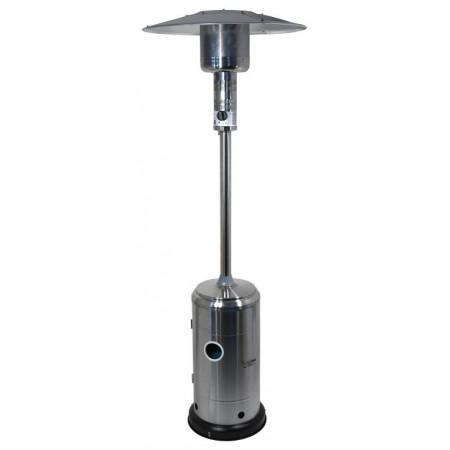 Venkovní topidlo- plynový zářič s regulátorem, nerez, 225 cm