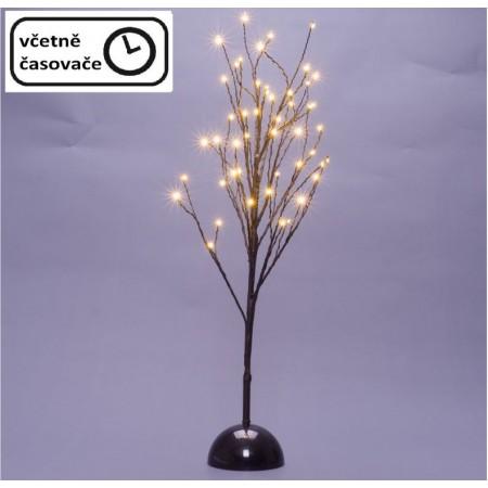 Dekorativní umělý strom osvětlený do interiéru, na baterie, časovač, 48cm, 60cm