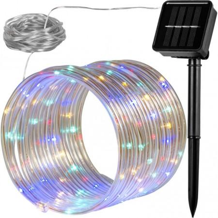 Světelná hadice venkovní se solárním nabíjením, barevná, 12 m