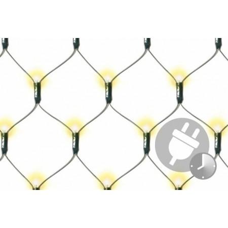 LED světelná síť trvale svítící venkovní / vnitřní, teple bílá, 320 LED, 1,8x2,3m