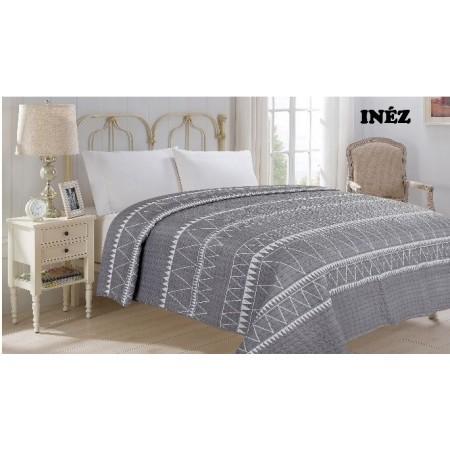 Přehoz na postel dvojlůžko inez- vzorovaný, 220x240cm